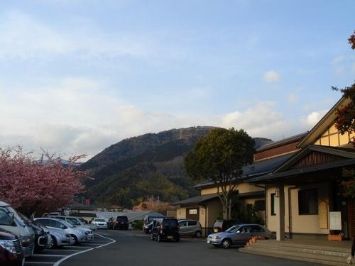 踊子温泉会館で花見露天風呂(^^)